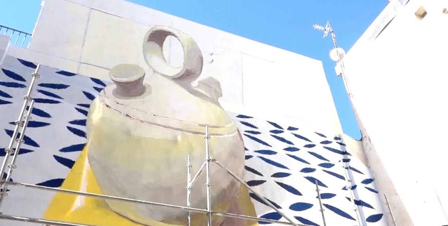 """Proyecto de arte urbano """"Edusiart"""" en el Barrio San Antón de Alicante"""